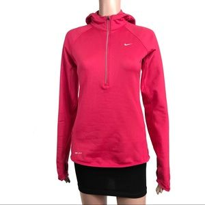 Nike Hot Pink Hoodie Half Zip Active Sweater Small